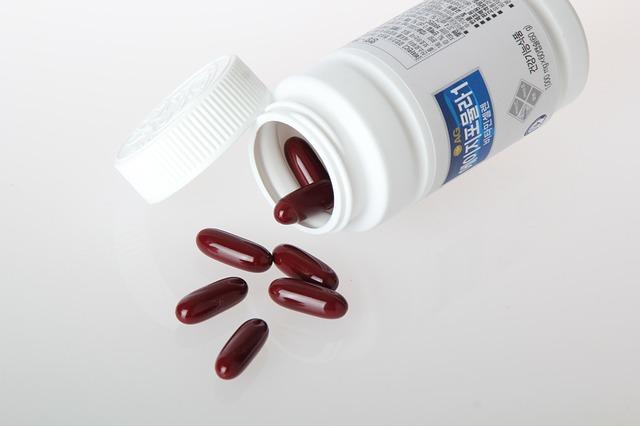 rudé tabletky, krabička