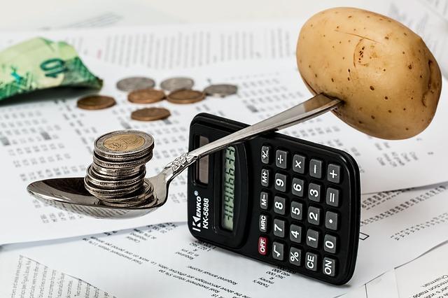 vyvažování peněz s jídlem