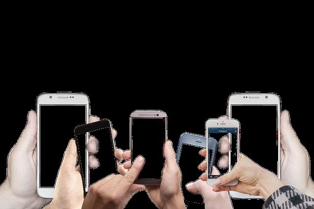 držení mobilů