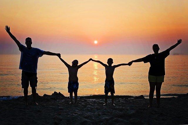 rodinná pohoda na dovolené