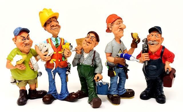 řemeslníci s nářadím
