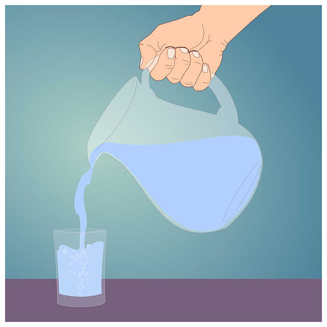 voda ze džbánu