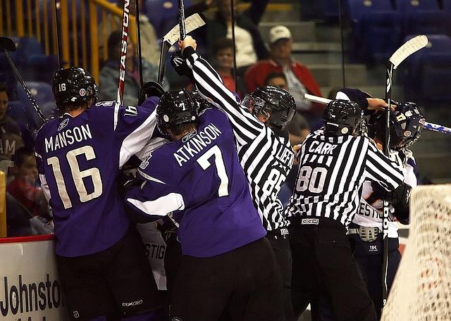bitka hokejistů